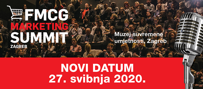 3. FMCG Marketing Summit pomaknut na 27.5.2020.